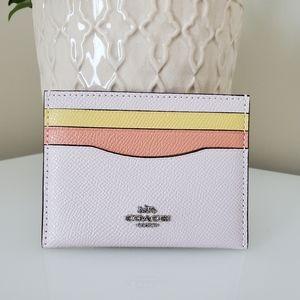 Coach card case in colorblock